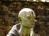 Bronze sculpture, Pilgrim, by David Backhouse. Photograph by Dave Wakely