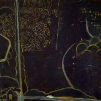 Landscape with Car at Night by Ernest Zobole