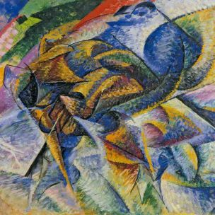 Dynamism of a Cyclist (1913) by Umberto Boccioni