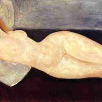 Reclining Nude With Head Resting on Right Arm by Amedeo Modigliani (1919)