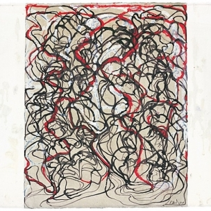 Letter with Red by Brice Marden (2009)